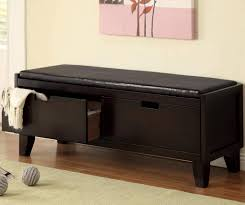 Leather Bedroom Benches Elegant Stylish Kids Leather Style Padded Bench With Three
