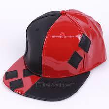 pu leather squad harley quinn hip hop fashion men women baseball cap cool adjustable snapback caps cosplay hat