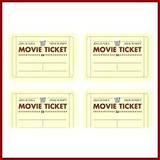 Free Printable Movie Ticket Invitation Templates Template Word Cards