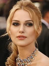 kiera knightly with blonde hair fair skin and brown eyes