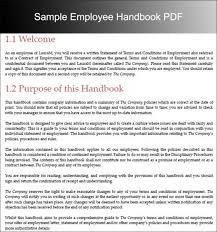 Free Employee Handbook Template For Templates Free Downloa