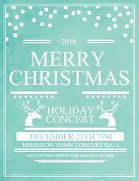 christmas event flyer template blue merry christmas holiday concert event poster template work