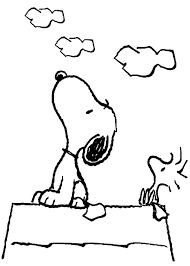 Small Picture Snoopy Snoopy and Woodstock Looking at the Sky Coloring Pages