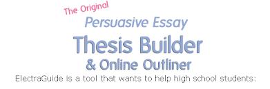 Persuasive Essay Outline Builder Affordable Price