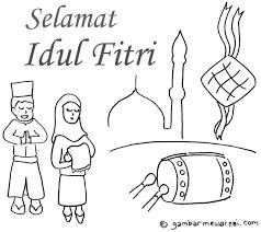 Selamat hari raya idul fitri 1442 h. Gambar Mewarnai Hari Raya Idul Fitri Gambar Mewarnai Buku Mewarnai Warna Buku Gambar
