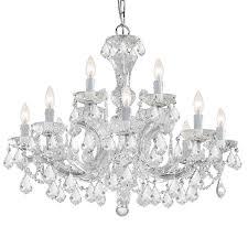 crystorama maria theresa 12 l ight clear italian crystal chandelier