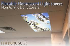white cherry blossom 2ft x 4ft drop ceiling fluorescent decorative ceiling light cover skylight com