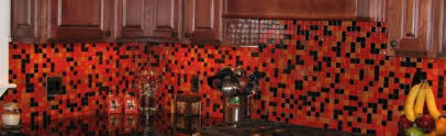 black glass tiles for kitchen backsplashes laphotos co pertaining to excellent red glass tile