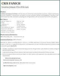 Electrical Lineman Resume Templates Journeyman Sample Simple And