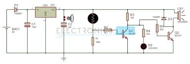 electronic eye controlled security system circuit using ldr electronic eye controlled security system circuit diagram
