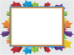 Children Ppt Templates Colorful Stars Frame Backgrounds For Powerpoint Animated Ppt Templates
