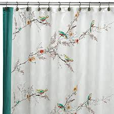 Lenox Simply Fine™ Chirp™ Fabric Shower Curtain Bed Bath & Beyond