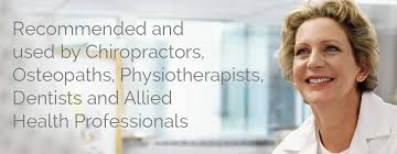 Recommended and Used by Chiropractors, Osteopaths, Physiotherapists,  Dentists and Allied Health Professionals.