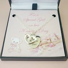 details about personalised naming day gift necklace with engraving for daughter niece etc