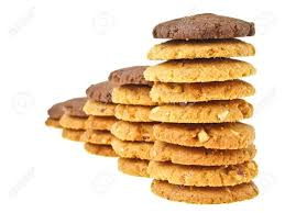 Cookie Chart Perspective Of Cookie Stack Chart With Brown Cookie On Top On