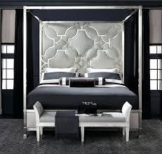 Designer Beds Upholstered Metal Canopy King Bed Furniture Designer
