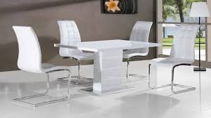 High Gloss Dining Table Sharp White High Gloss Dining Table And Black Chairs Set