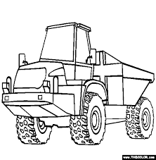 Articulated Dump Truck trucks online coloring pages page 1 on jacked up truck coloring pages