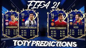 FIFA 21 TOTY PREDICTIONS ! FT MESSI, RONALDO, RAMOS!!! - YouTube