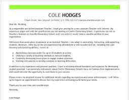 Cover Letter Template For Teachers Primeliber Com