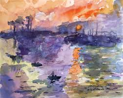 turning a famous painting into a watercolor study