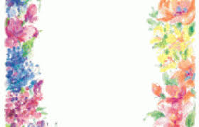 Paper With Flower Border Floral Border Design Paper Borders And Frames Borders