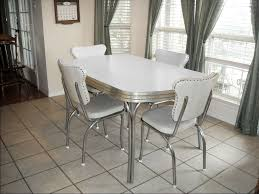 vine retro 1950 s white kitchen or dining room table with 4 chairs and leaf ebay