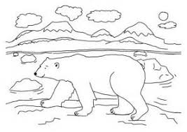 Small Picture Printable Polar Bear Coloring Pages Coloring Me printable picture