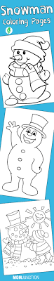 Top 20 Free Printable Snowman Coloring