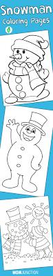Top 20 Free Printable Snowman Coloring