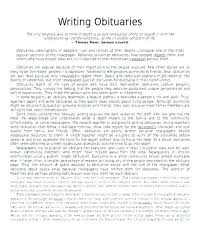 Obituary Examples Mother Sample For Template Of Baby Samples