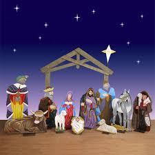 life size wood nativity set 12 pc