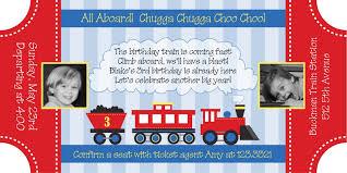 Train Ticket Invitation Free Template Birthday Trains Birthday