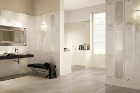 white ceramic tiles bathroom. Exellent Tiles Beautiful Decorative White Ceramic Tile Bathroom Design In The Luxury  Complete With Mirror And Vanity Set Plus Bench Inside Tiles T