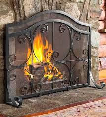 single panel fireplace screen antique gold one screens pilgrim