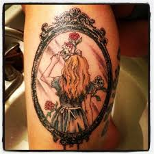 alice in wonderland painting roses and tattoo designs