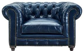 navy blue leather recliner chair chairs chesterfield furniture excellent navy