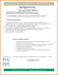 Stunning Cover Letter Sample For Child And Youth Worker For Your