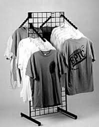 T Shirt Display Stand Grid TShirt Rack Apparel Rack Grid Display Retail 49