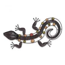 garden ornaments and accessories. Metal Lizard Garden Wall Art For \u0026 Home Ornaments Accessories #gardening # And R