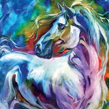 wall art 100 handpainted modern abstract horse pictures on canvas animal oil paintings for home decor in painting calligraphy from home garden on