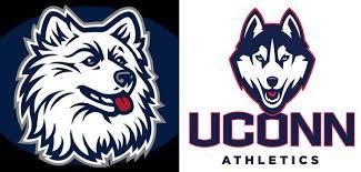 uconn huskies traditional connecticut mascot logo vs new jonathan husky logo