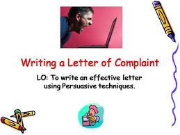 writing letter of complaint authorstream