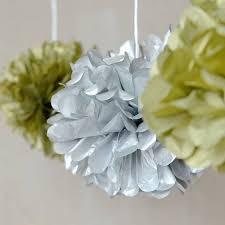 Hanging Pom Pom Decorations Aliexpresscom Buy 6pcs 15cm Metallic Gold Silver Tissue Paper
