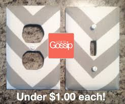 Voila, I made a pair of Chevron Lightswitches & Outlet Covers for under  $1.00!
