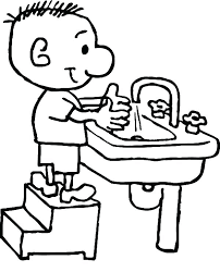 hand washing coloring pages for hygiene preschoolers
