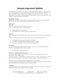 Example Of Argument Essays Sample Argument Outline How To Create An Argument Outline