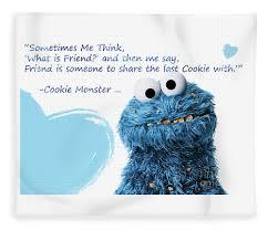 Friendship Is Cookie Monster Cute Friendship Quotes 2 Fleece Blanket