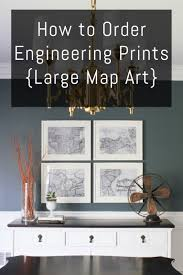 how to order engineering prints large map art