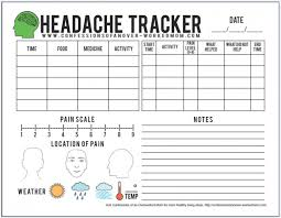 Headache Chart Template Migraine Tips And A Free Printable Headache Tracker